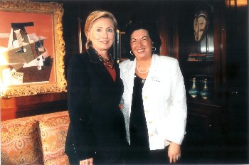 dr. carmen harra and secretary of state hillary clinton