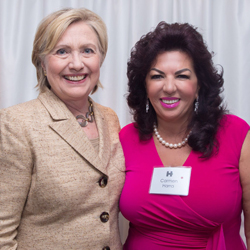 Dr. Carmen Harra with Hillary Clinton