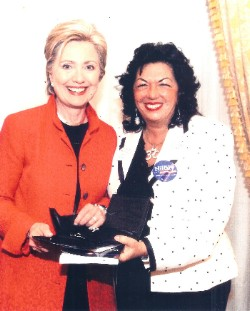 Carmen Harra and Senator Hillary Clinton