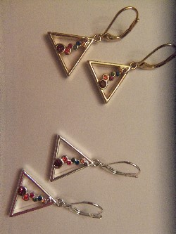 wishing pyramid earrings