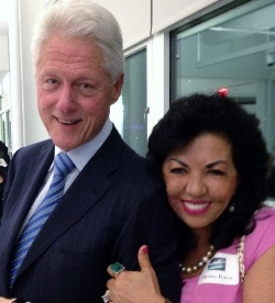 Dr. Carmen Harra and President Bill Clinton