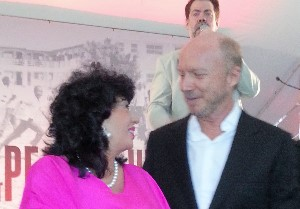 With Paul Haggis at the Toronto Film Festival